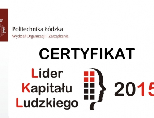Certyfikat z udziału w Badaniach Rynkowych